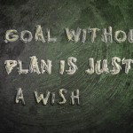 A Goal Without A Plan Is Just A Wish Concept text